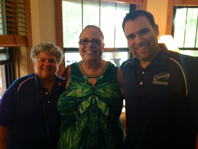 Beth Dimino, Karen Lewis, and Brian St. Pierre this summer in Chicago.