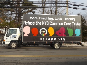 Seen on Long Island streets today!  Refuse the tests!