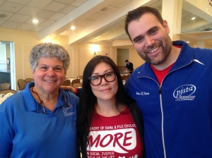 Beth Dimino, Jia Lee, Brian St. Pierre.  Lee will be running against Michael Mulgrew for UFT President.