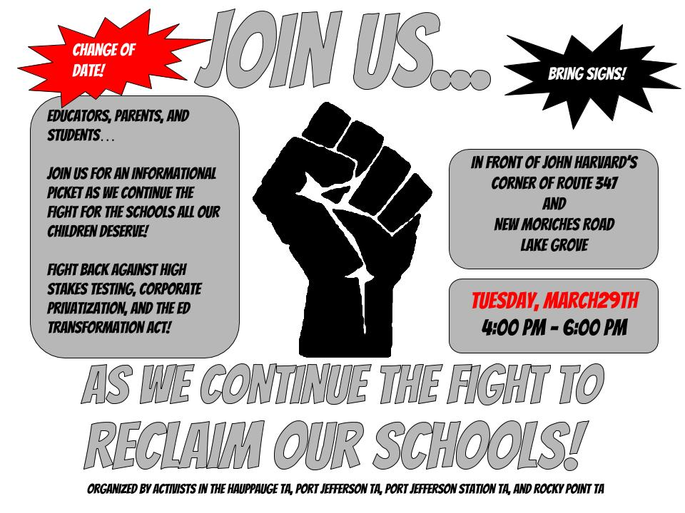 Reclaim Our Schools Picket