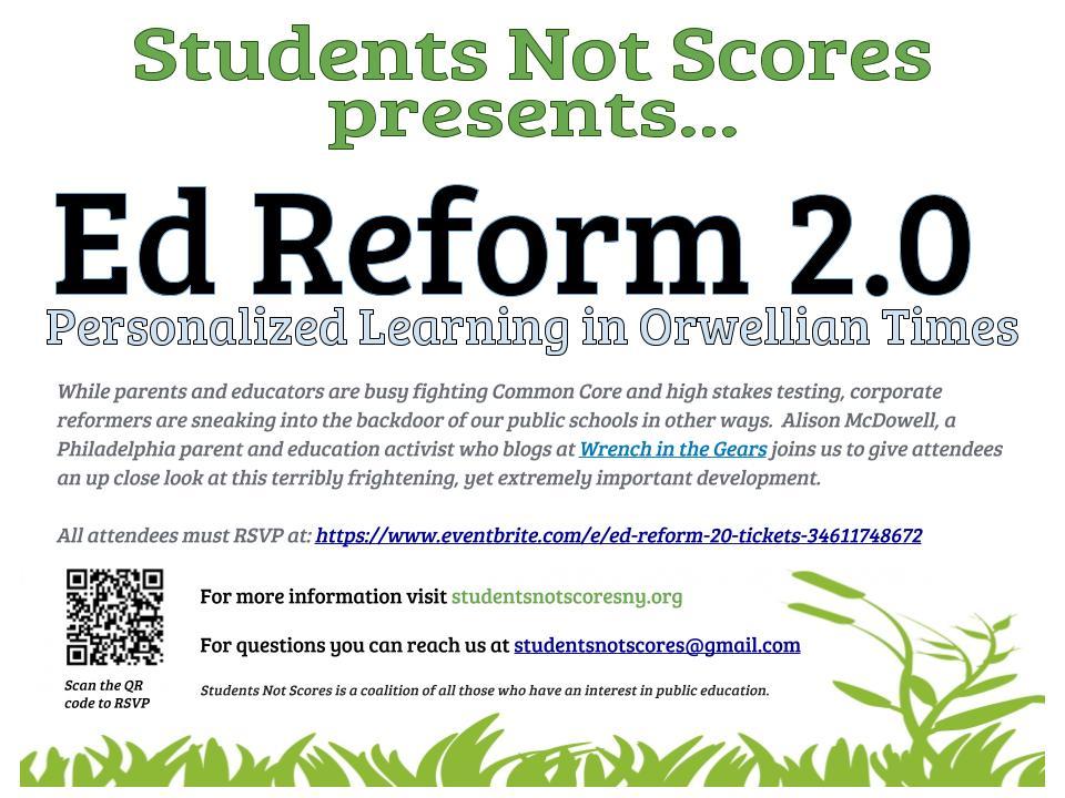 Ed Reform 2.0 Flyer